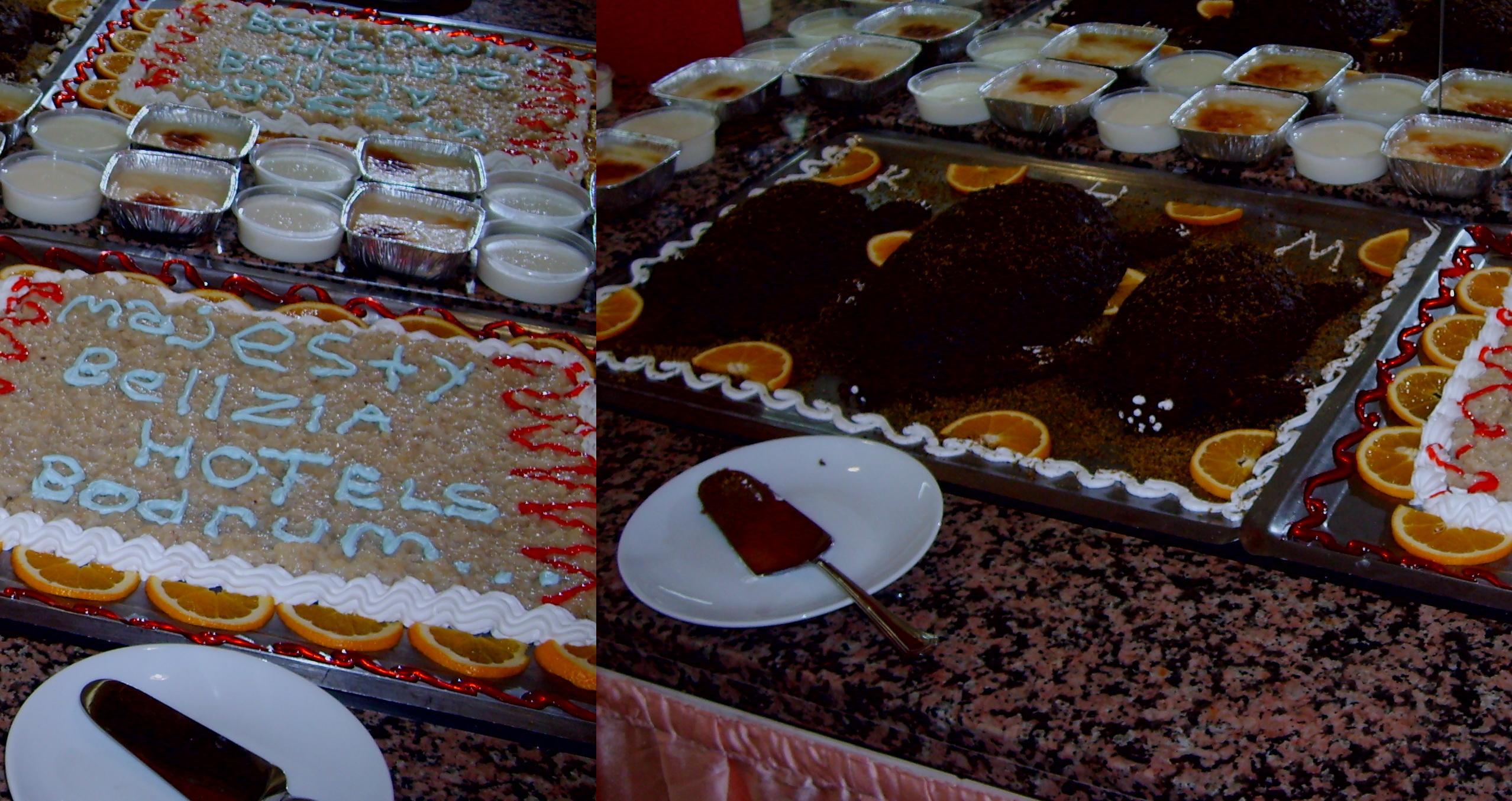 Фирменный торт Majesty Club Hotel Belizia