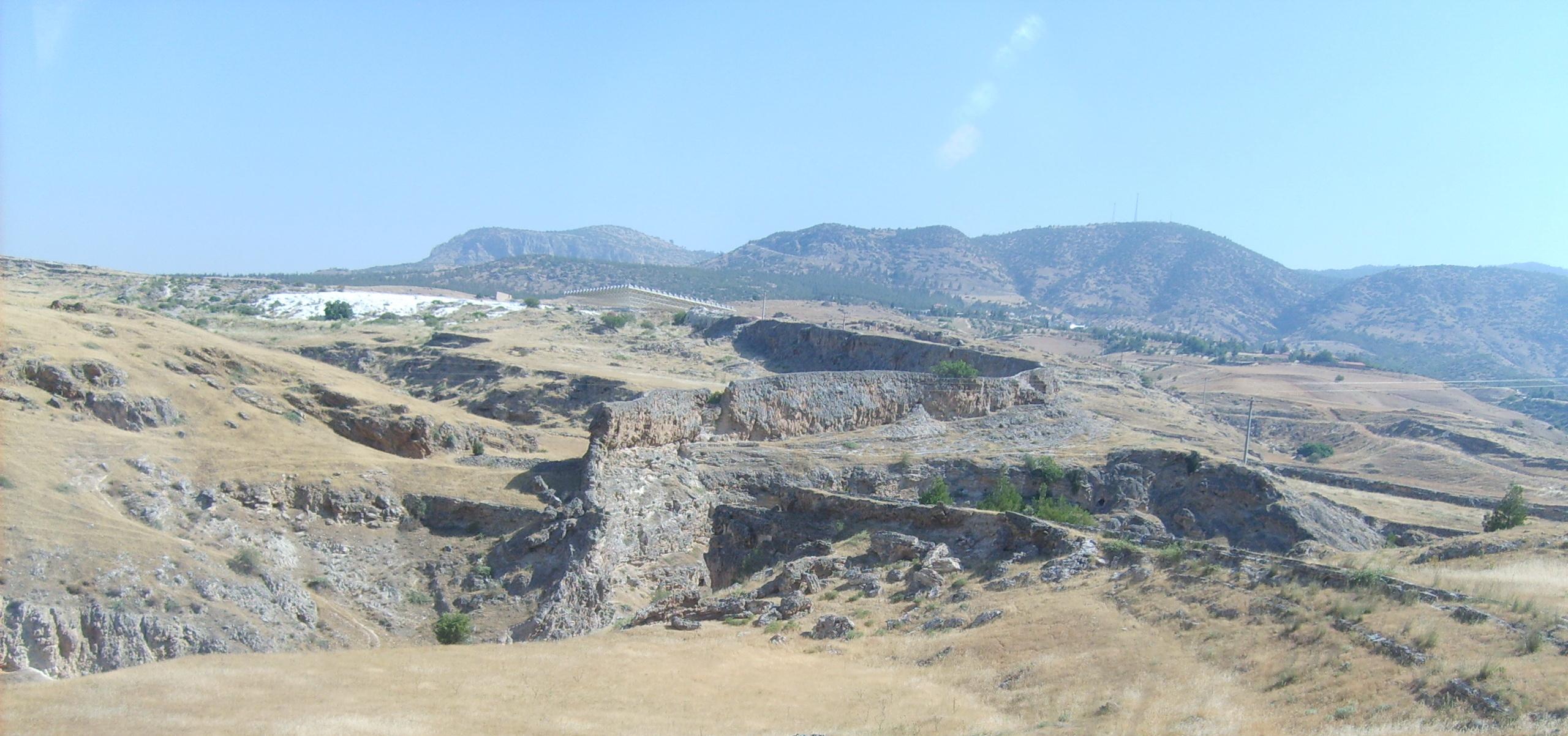 Пейзажи Турции по дороге к Памуккале