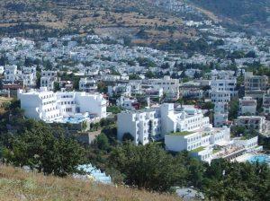 Бодрум в Турции - город белых домиков