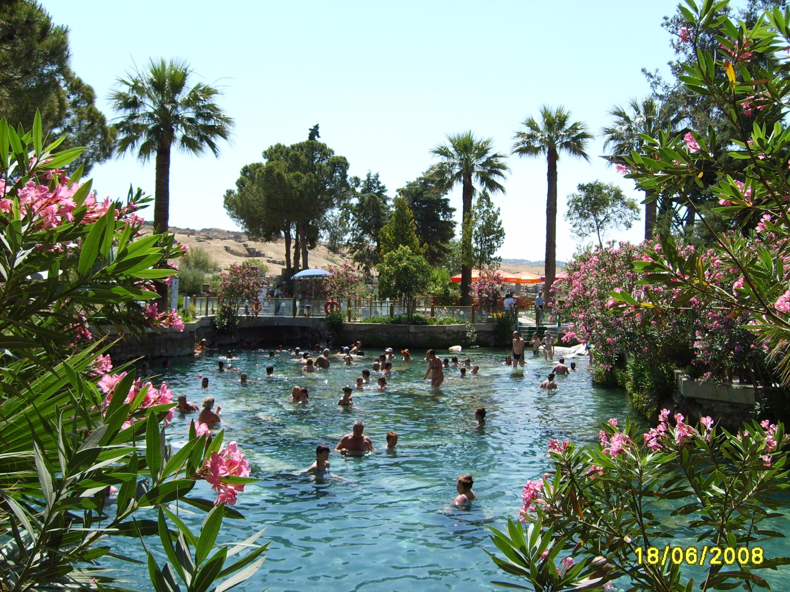 Бассейн Клеопатры Памуккале (Турция)