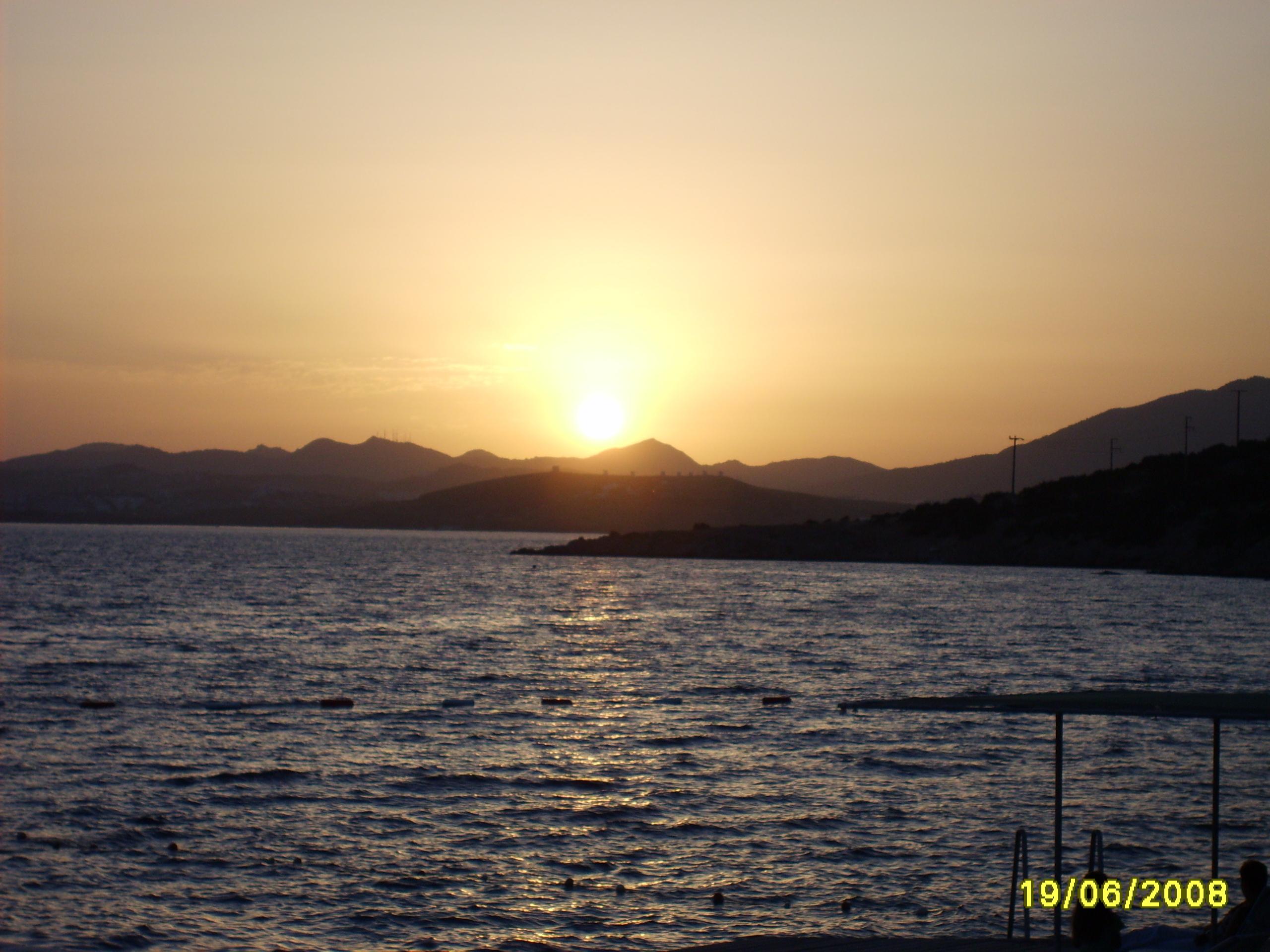 Красивый закат в Бодруме