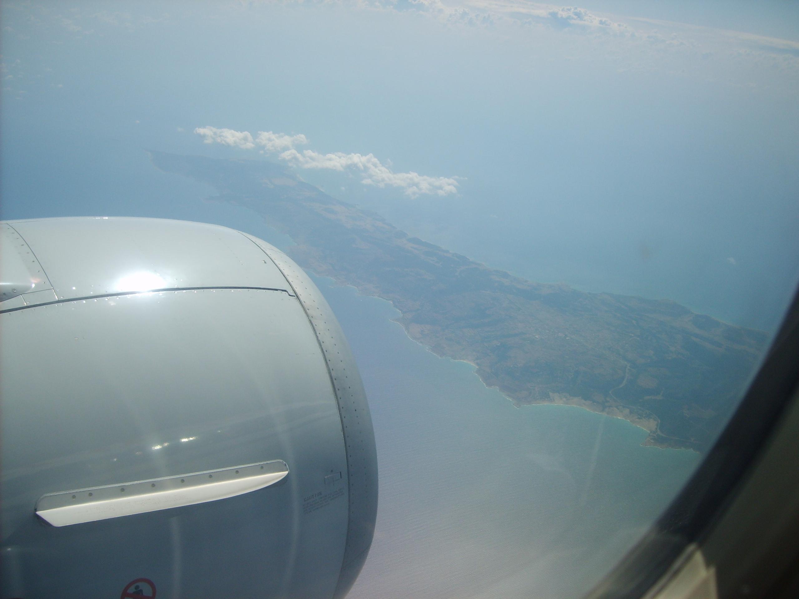 Остров Кипр из иллюминатора самолёта