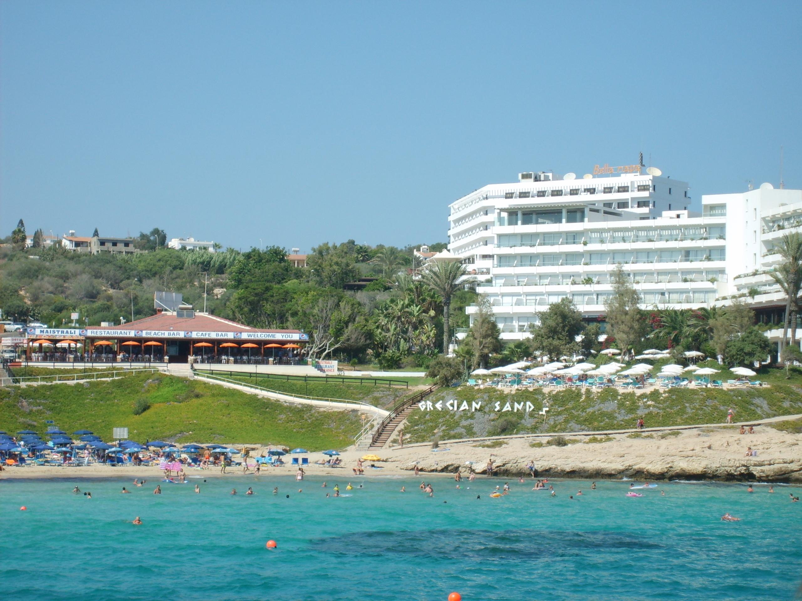 Пляж Grecian Sands в Айя Напе (Кипр)
