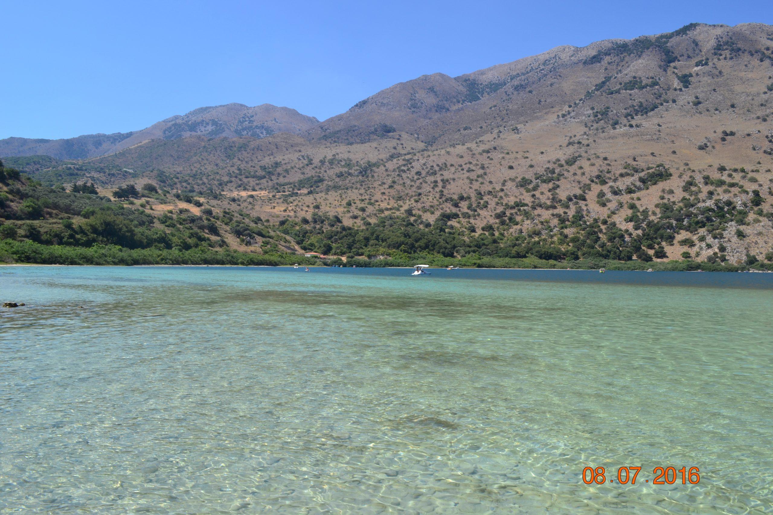 Преснводное озеро Курнас на Крите