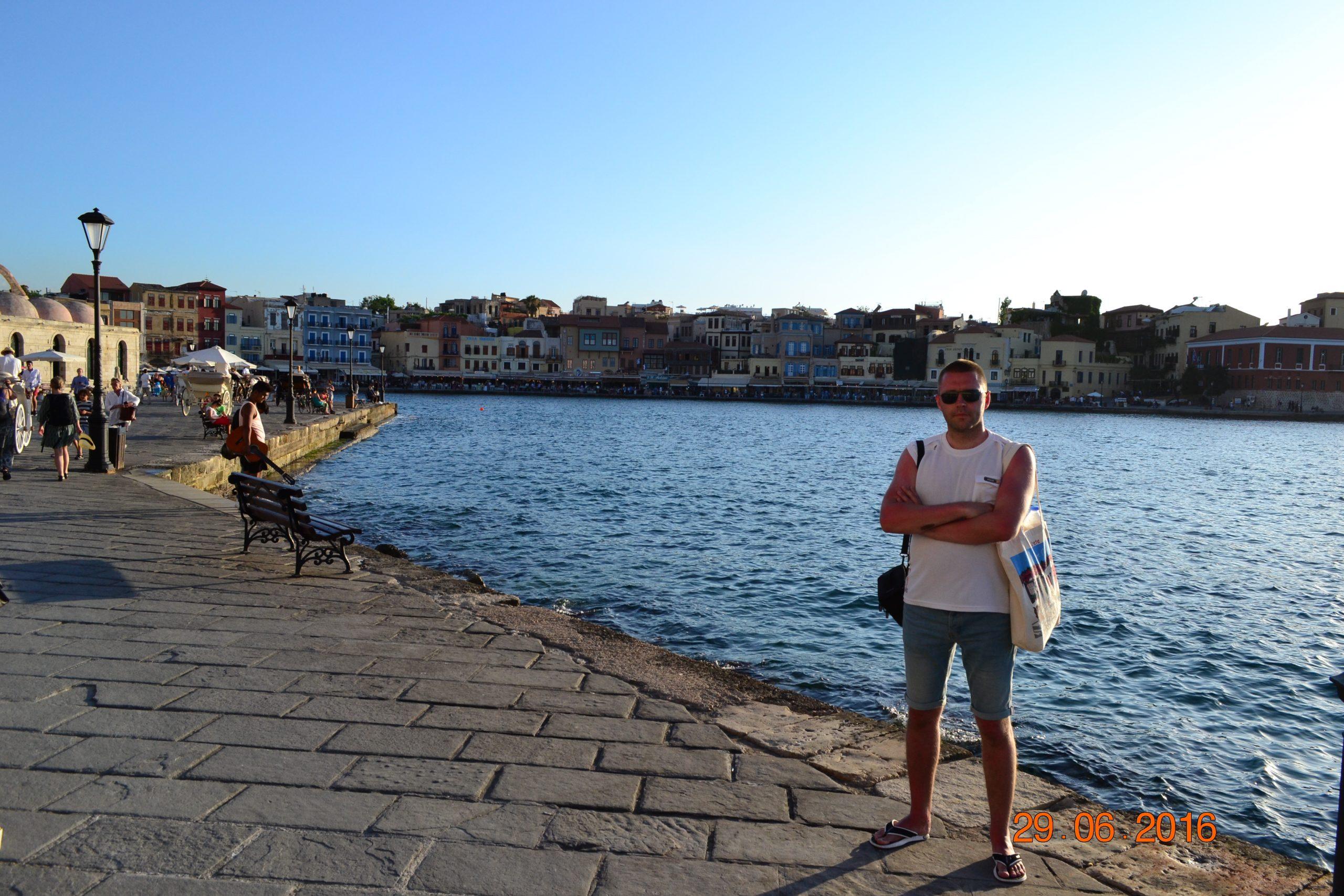 Венецианская набережная в Ханье (Крит, Греция)