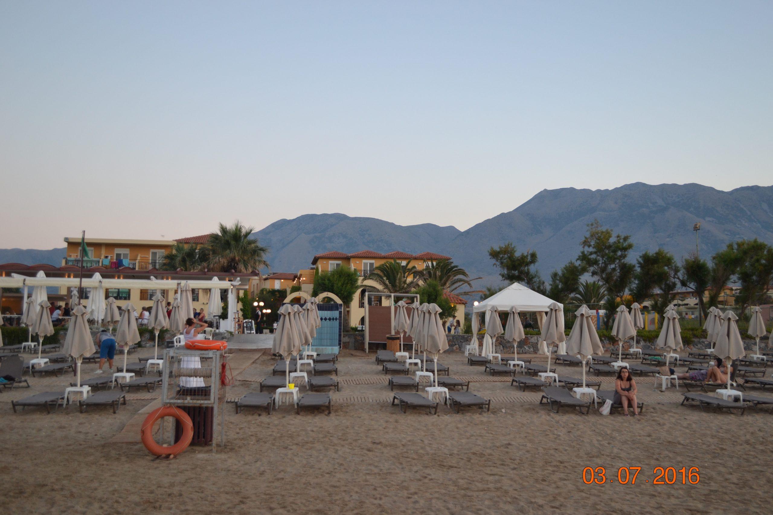 Пляж отеля Vantaris Beach 4* - Крит (Греция)