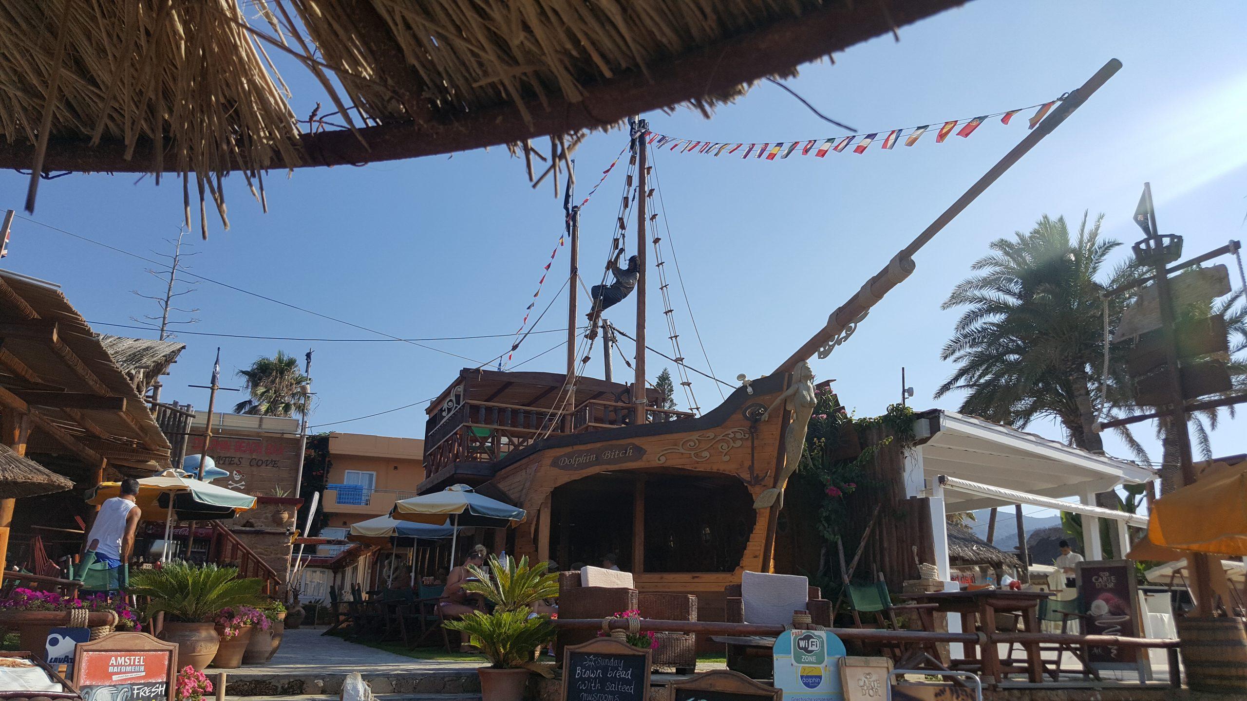 Остров Крит - Малия - таверна Dolphin Beach